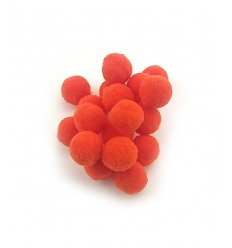 Mini pompon 15mm - orange