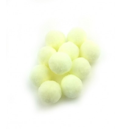 Mini pompon 15mm - jaune