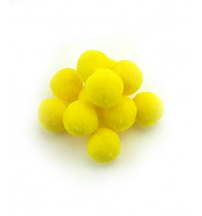 Mini pompon 25mm - jaune