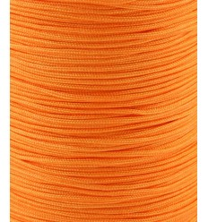 Fil de jade/nylon tressé - orange