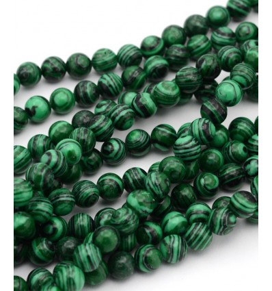 Chapelet pierre - Imitation Malachite - 6mm