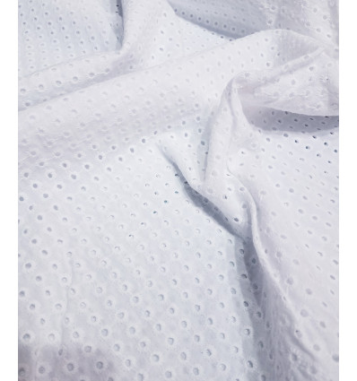Tissu broderie anglaise - Petits trous
