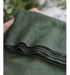 "Tissu jacquard bio ""Leaf"" - Mind The Maker"