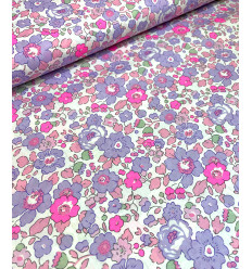 """Tissu Liberty """"Betsy - Parme+fluo"""""""